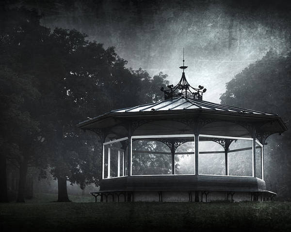 Abandoned Poster featuring the photograph Storytelling Gazebo by Svetlana Sewell