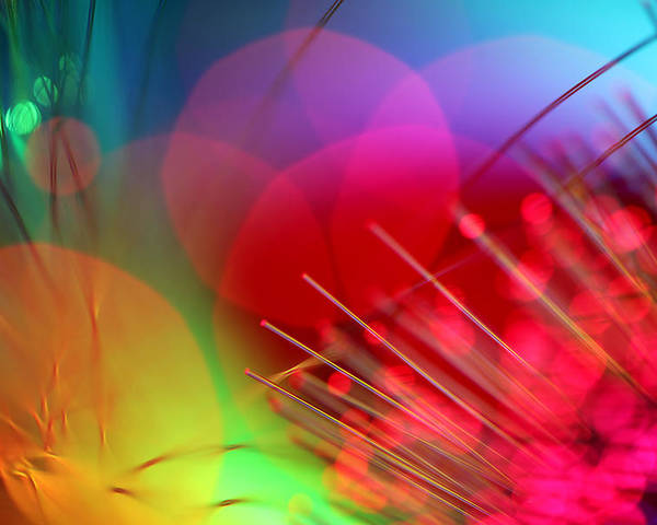 Abstract Poster featuring the photograph Strange Days by Dazzle Zazz