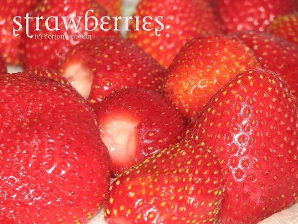Food Poster featuring the photograph Strawberries by Cleaster Cotton
