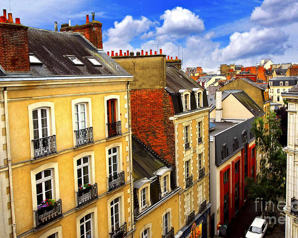 View Poster featuring the photograph Street In Rennes by Elena Elisseeva