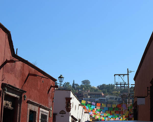 Streets Poster featuring the photograph Streets Of San Miguel De Allende 2 by Cathy Anderson