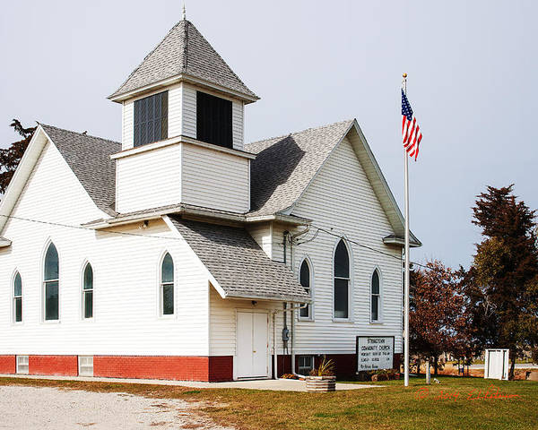 Rural Church Poster featuring the photograph Stringtown Community Church by Edward Peterson