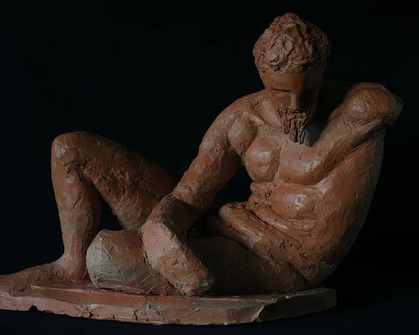 Man Sculpture Poster featuring the sculpture Study Of The River God by Flow Fitzgerald