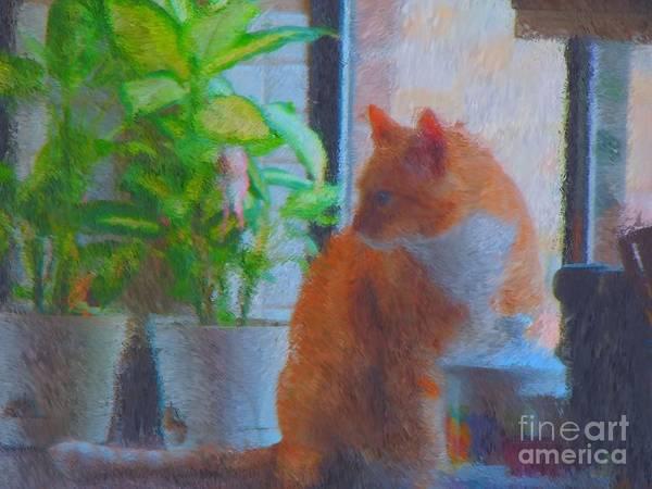 Cat Photography Poster featuring the digital art Suburban Jungle Cat by JoLen Confer
