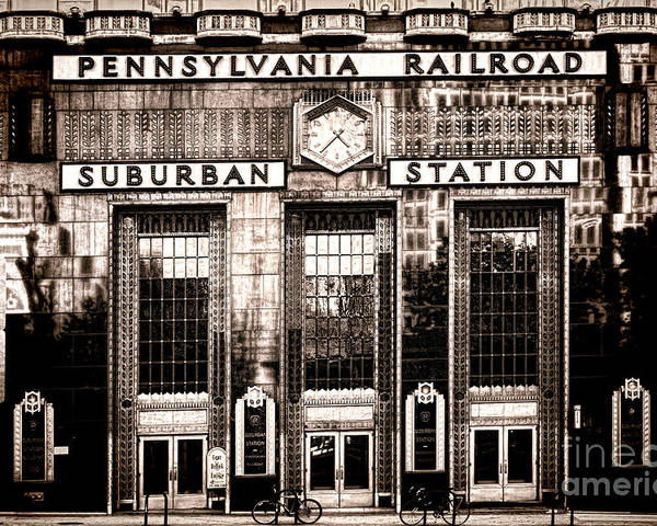 Philadelphia Poster featuring the photograph Suburban Station by Olivier Le Queinec