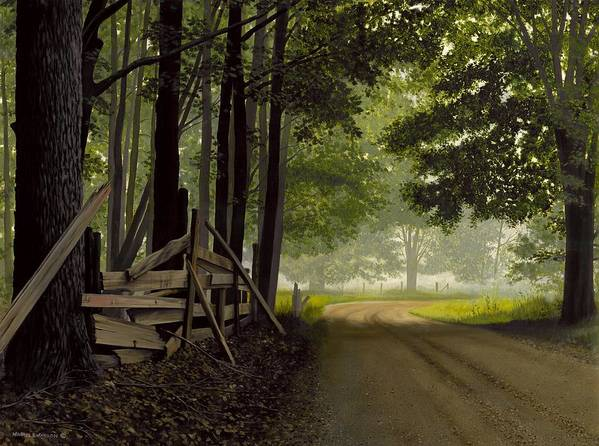 Country Road Poster featuring the painting Sugarbush Road by Michael Swanson