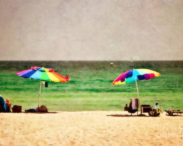 Beach Poster featuring the photograph Summer Days At The Beach by Scott Pellegrin