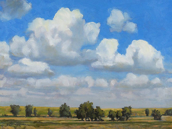 Landscape Poster featuring the painting Summer Pasture by Bruce Morrison