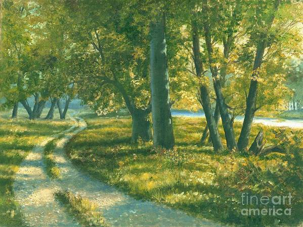 Landscape Trees Poster featuring the painting Summer Place by Michael Swanson