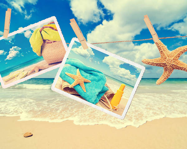 Beach Poster featuring the photograph Summer Postcards by Amanda Elwell