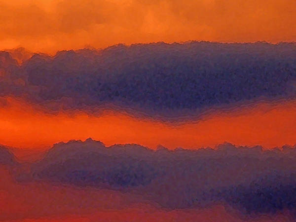 Abstract Photography Poster featuring the photograph Summer Sunset by Ellen Stockdale Wolfe