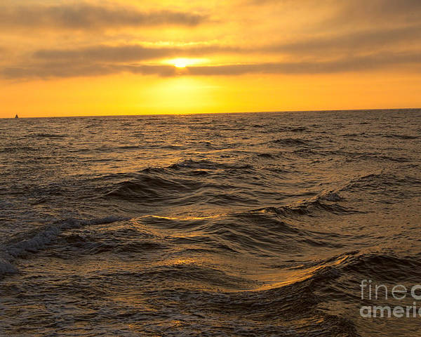 Sunset Poster featuring the photograph Summer Sunset by Loretta Jean Photography