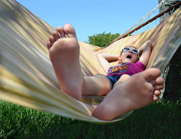 Child Poster featuring the photograph Summertime And The Livin' Is Easy by Laura Fasulo