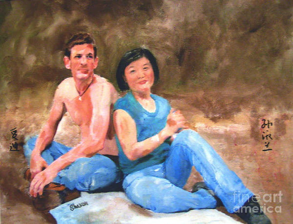 Couple Poster featuring the painting Sun Shulan by Sharon Burger