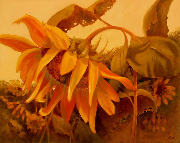 Flower Poster featuring the painting Sundance by Sue Darius