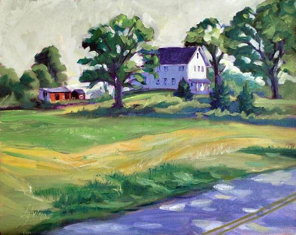 The Wasniewski Farm Poster featuring the painting Sunday Morning by Sylvina Rollins