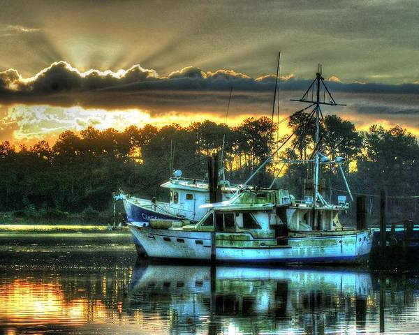 Alabama Poster featuring the digital art Sunrise At Billy's by Michael Thomas