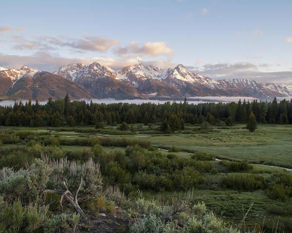 Sunrise At Grand Teton National Park Brian Harig Poster featuring the photograph Sunrise At Grand Teton by Brian Harig
