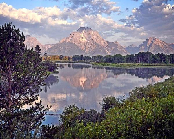 Grand Teton National Park Poster featuring the photograph Sunrise At Oxbow Bend 4 by Marty Koch