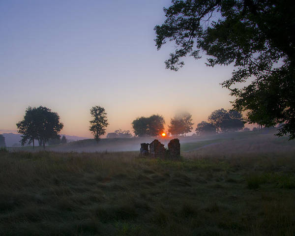 Sunrise Poster featuring the photograph Sunrise At Whitemarsh by Bill Cannon