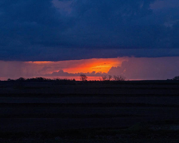 Landscape Poster featuring the photograph Sunrise N Clouds by Tom Winfield