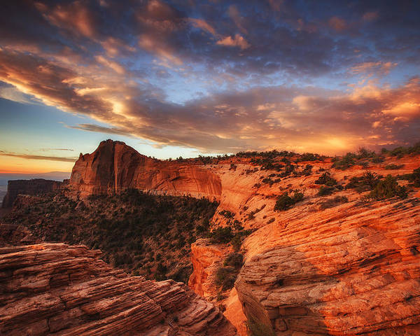 Sunrise Poster featuring the photograph Sunrise Over Canyonlands by Darren White