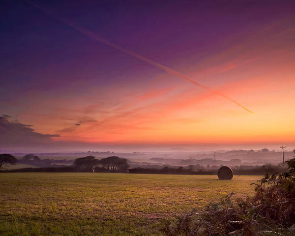 Landscape Poster featuring the photograph Sunrise Over Cornwall by Christine Smart