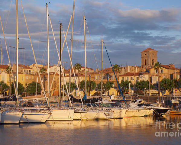 Boats Poster featuring the photograph Sunrise Over La Ciotat France by Brian Jannsen