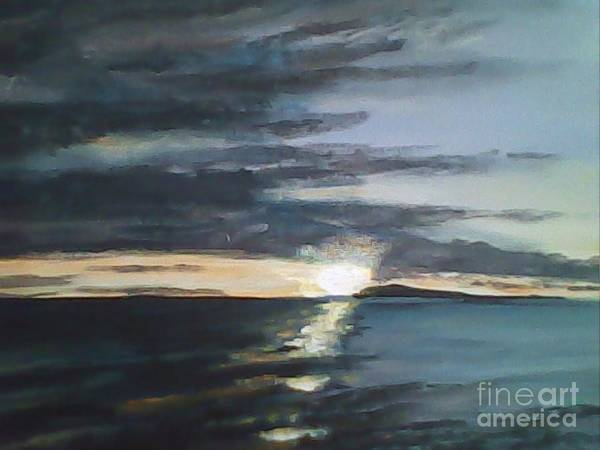 Sunrise Poster featuring the painting Sunrise Over Siguijor by Richard John Holden RA