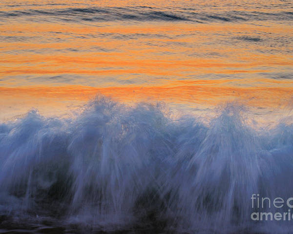 Breaking Poster featuring the photograph Sunrise Wave by Colin Woods