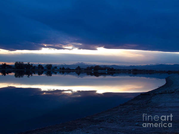Sunset Poster featuring the photograph Sunset At Windsor Lake by Dana Kern