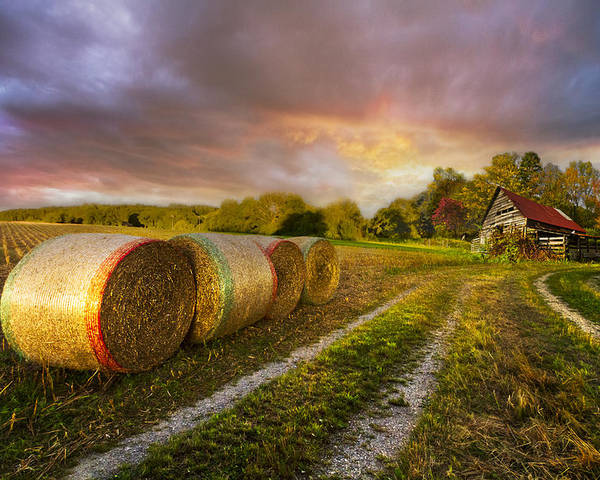 Appalachia Poster featuring the photograph Sunset Farm by Debra and Dave Vanderlaan