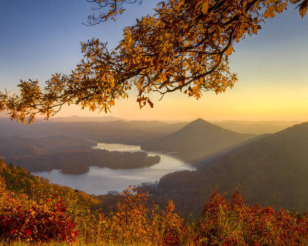 Appalachia Poster featuring the photograph Sunset Light by Debra and Dave Vanderlaan