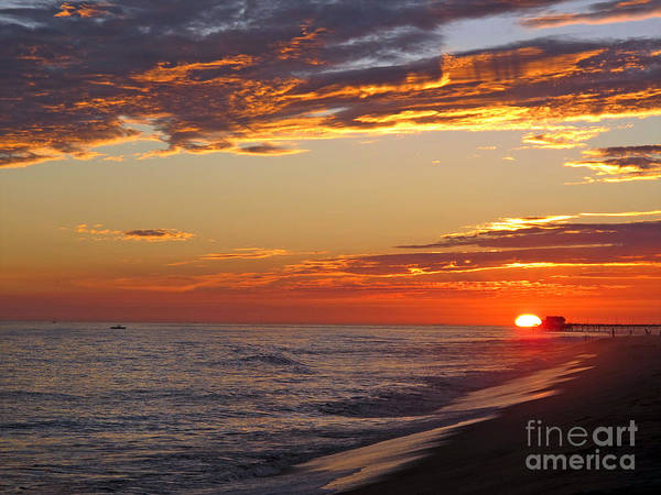 Sunset Poster featuring the photograph Sunset On Newport Beach by Kelly Holm
