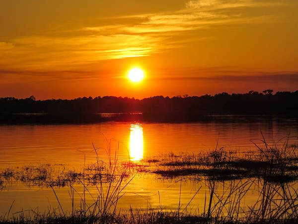 Sunset Poster featuring the photograph Sunset Walk In The Water by Zina Stromberg