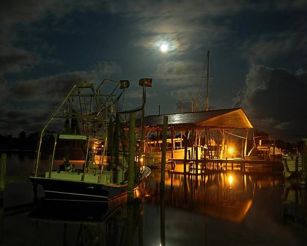 Alabama Poster featuring the digital art Super Moon At Nelsons by Michael Thomas