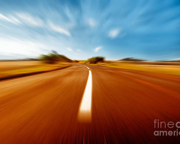 Super Poster featuring the photograph Super Speed Road by Boon Mee