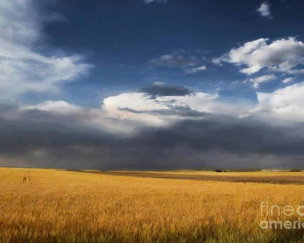 Clouds Poster featuring the photograph Sure Wish It Would by Jon Burch Photography