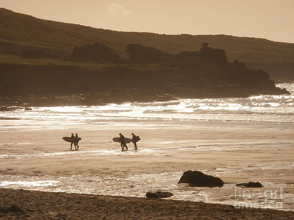 Surf Poster featuring the photograph Surfers On Beach 02 by Pixel Chimp