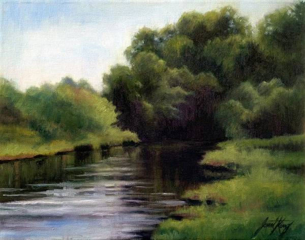 Swan Creek In Hickman County Poster featuring the painting Swan Creek by Janet King