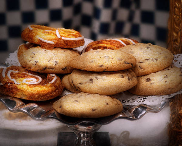 Cookie Poster featuring the photograph Sweet - Cookies - Cookies And Danish by Mike Savad
