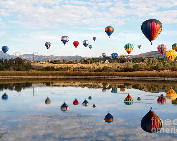 Hot Air Balloons Poster featuring the photograph Sweet Seventeen by Bill Singleton