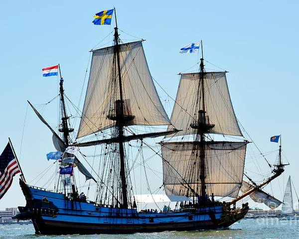 Tall Ship Poster featuring the photograph Swiss Beauty by Brenda Dorman