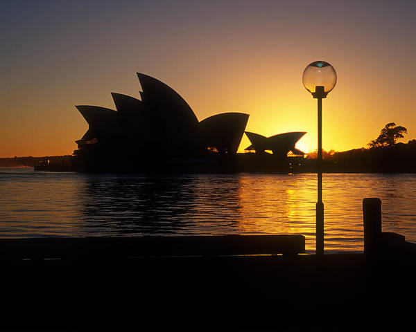 Sydney Poster featuring the photograph Sydney Sunrise by Inge Riis McDonald