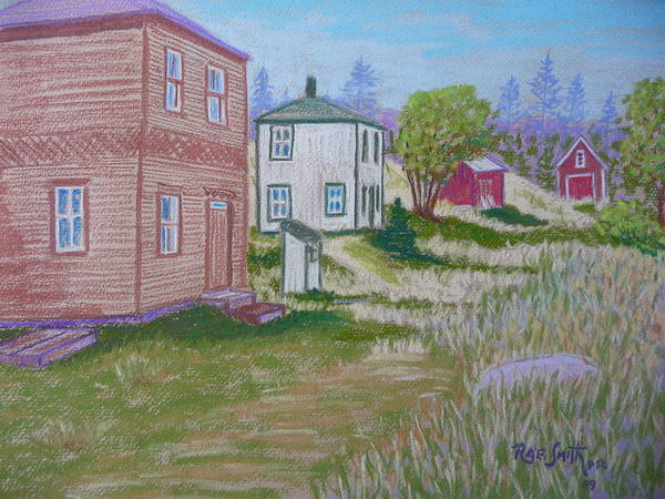 Eastern Points Poster featuring the pastel Syds Place Eastern Points Island by Rae Smith PSC