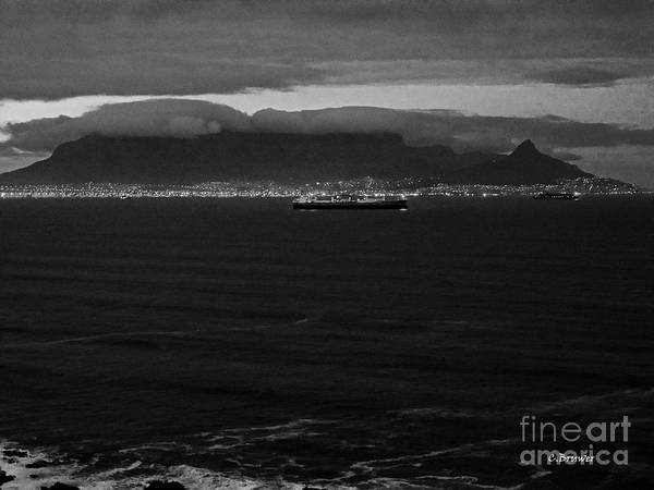 Black And White Poster featuring the photograph Table Mountain Black And White 3 by Charl Bruwer