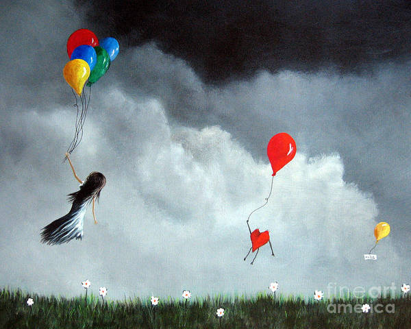 Cute Poster featuring the painting Take Us Home By Shawna Erback by Shawna Erback