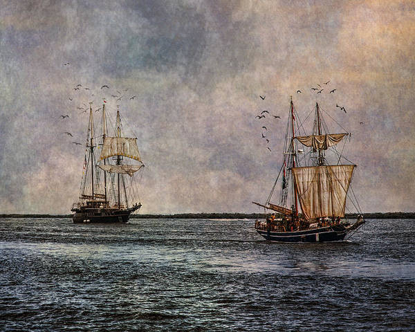 Tall Ships Poster featuring the photograph Tall Ships by Dale Kincaid