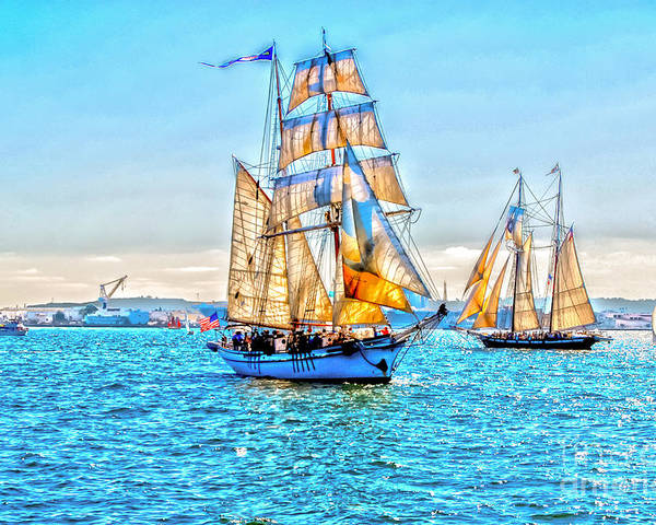 Star Of India Poster featuring the photograph Tall Ships by Baywest Imaging