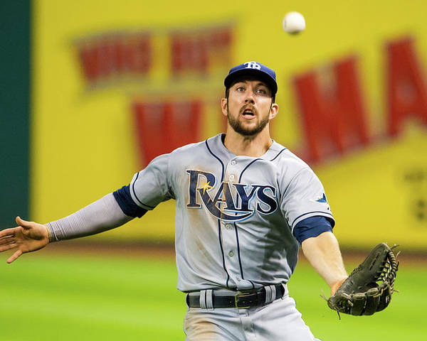 Three Quarter Length Poster featuring the photograph Tampa Bay Rays V Cleveland Indians by Jason Miller